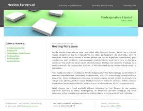 Hosting Warszawa www.hosting-serwery.pl